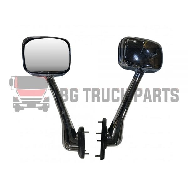 FREIGHTLINER CASCADIA HOOD MIRROR LH COMPLETE CHROME