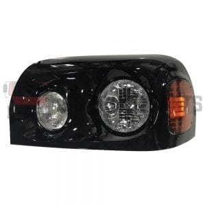 FREIGHTLINER CENTURY HEADLAMP LH W/BLACK COVER HOUSING
