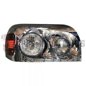 FREIGHTLINER CENTURY HEADLAMP RH W/CHROME COVER HOUSING