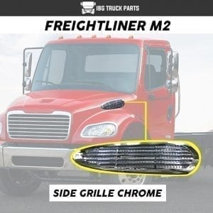 FREIGHTLINER M2 SIDE GRILLE CHROME