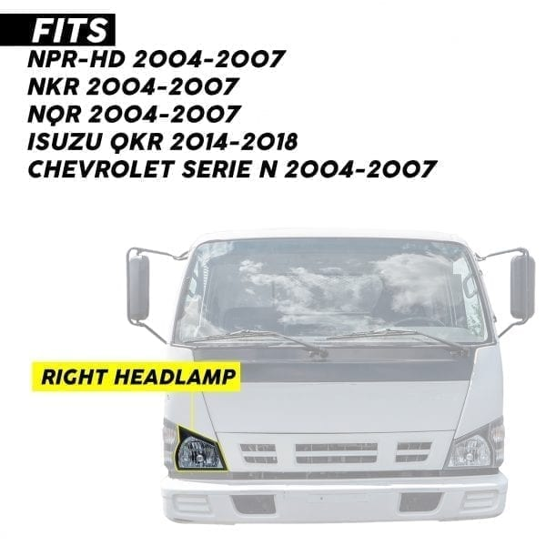 ISUZU NKR/NPR/NPR-HD HEADLAMP RH (2004-07)