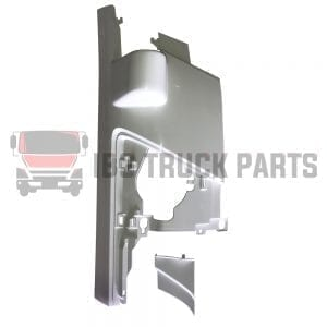 ISUZU NKR/NPR/NPR-HD CORNER PANEL W/ MIRROR ARM HOLE & COVER WHITE  RH (2008-ON)
