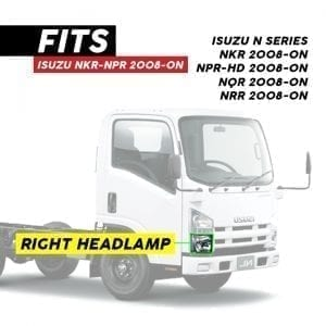 ISUZU NKR/NPR/NPR-HD HEADLAMP ELECTRIC RH (2008-ON)