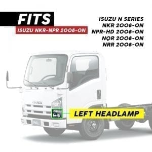 ISUZU NKR/NPR/NPR-HD HEADLAMP ELECTRIC LH (2008-ON)