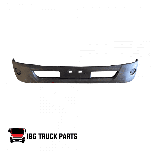 HINO 195/155 2012-2020, BUMPER W/ REMOVABLE FOG LAMP COVER  BLACK WIDE