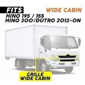 HINO 195/155 2012-2020, GRILLE WIDE