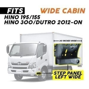HINO 195/155 2012-2020, STEP PANEL WIDE  LH