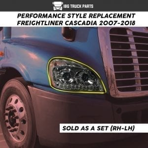 FREIGHTLINER CASCADIA HEADLAMP LED SET (LH/RH)